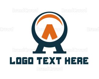 Telescope - Blue Orange Lens A logo design