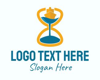Hourglass - Sailing Hourglass logo design