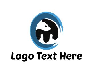 Polar Bear - Bear Circle logo design
