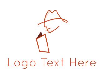 Read - Book Detective logo design