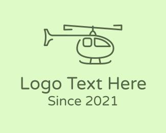 Air Delivery - Monoline Green Chopper logo design