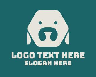 """Minimalist Hexagon Dog"" by MDS"