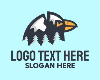 Natural Park - Eagle Mountain Forest logo design