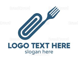 Canteen - Fork Clip logo design