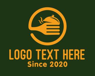 Hungry - Golden Circle Fork logo design