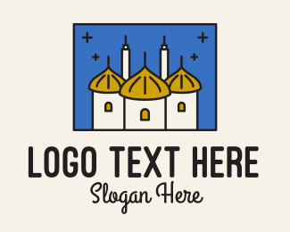 Kingdom - Middle Eastern Temple Towers logo design