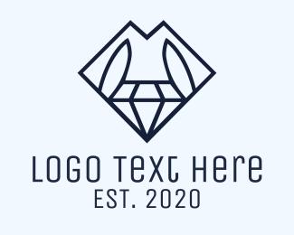 Trend - Diamond Fashion Dress logo design