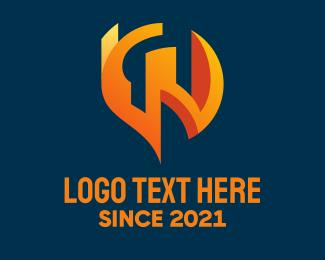 """""""Orange Tech Letter W """" by ions"""