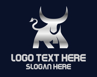 """Silver Horn Bull"" by eightyLOGOS"