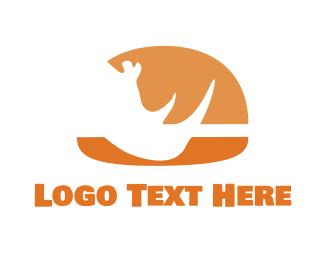 Cheeseburger - Rhino Burger  logo design