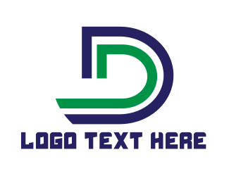 """Modern Stripe D"" by LogoBrainstorm"