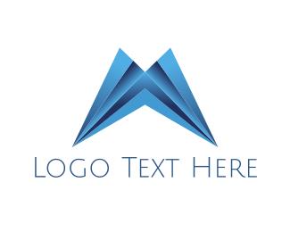 Plastic - Modern Letter M logo design