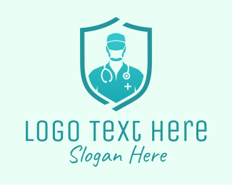 Health Care Worker - Medical Doctor Protection logo design