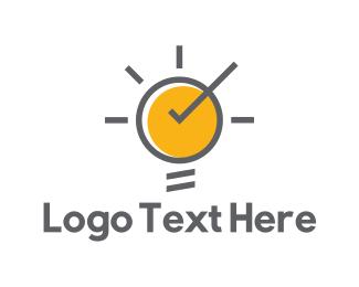 Bulb - Sun Bulb logo design