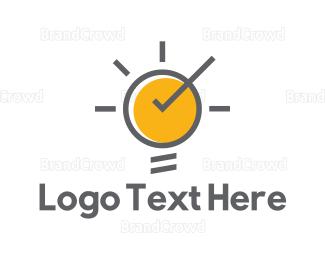 Sun - Sun Bulb logo design