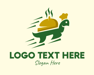Take Out - Fast Turtle Food Delivery logo design