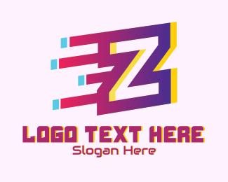 Gadget Store - Speedy Letter Z Motion logo design