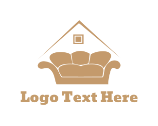 Sofa - Golden Sofa logo design