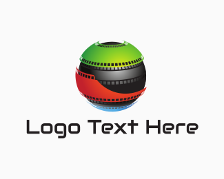 Reel - Film Globe logo design