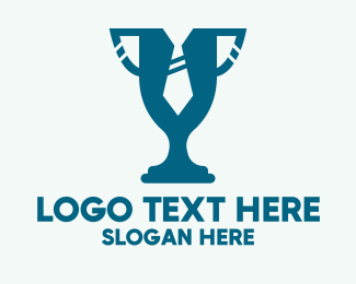 Tailor Shop - Blue Formal Trophy logo design