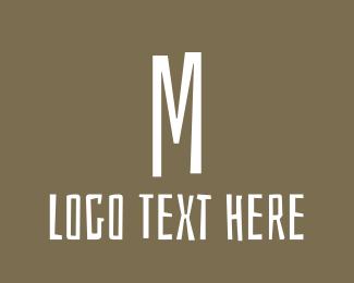 Hand Drawn - Brown Letter M logo design
