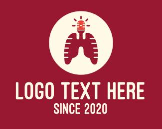 Alert - Respiratory Lungs Emergency Siren logo design