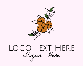 Floristry - Flower Boutique Line Art logo design