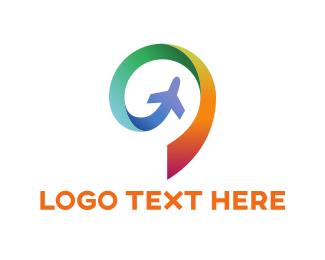 Spin - Plane Spin logo design