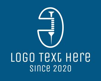 Oval - Medical Vaccine Syringe logo design