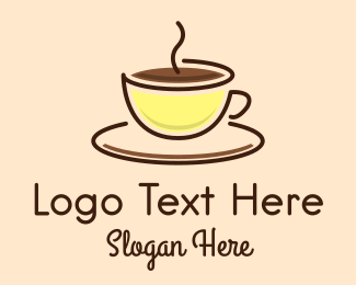 Robusta - Hot Coffee Cup logo design