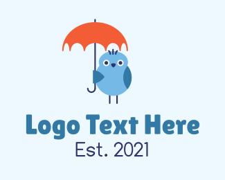 Blue Bird - Blue Bird Umbrella logo design