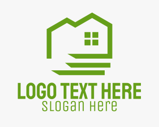 Eco Friendly - Green Eco Friendly House logo design