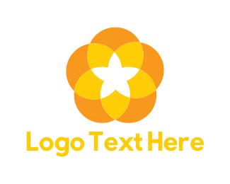 Amber - Yellow Flower logo design