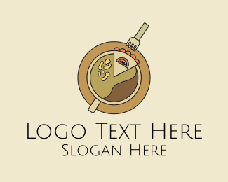 Utensils - Cafe Coffee Cake logo design