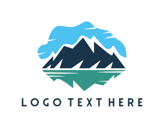 Glacial - Blue Mountain Lake logo design