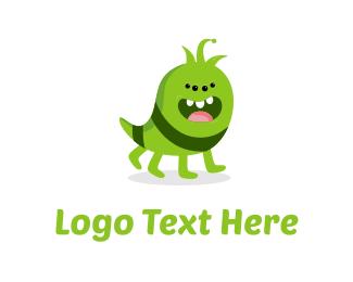 Caterpillar - Cute Monster logo design