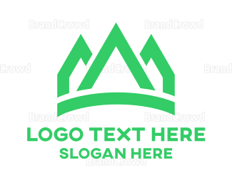 Gardening - Green Peaks Crown logo design
