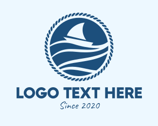 Boating - Sail Boat Badge  logo design