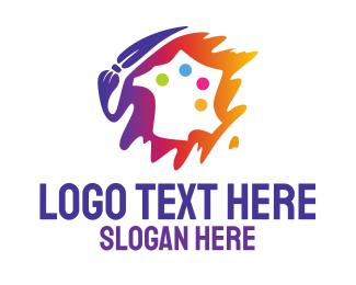 Paint - Art Paint Palette  logo design
