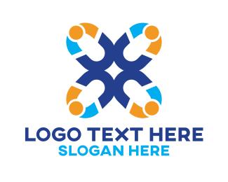 Multicolored Chains Logo