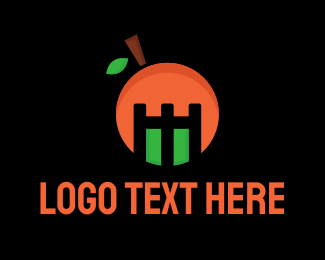 Orange Tower - Orange Mascot logo design
