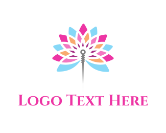 Needle - Needle Flower logo design