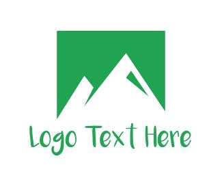 Highland - Abstract Green Mountains logo design