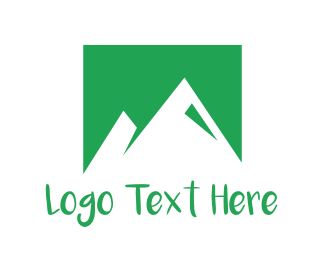 Ecosystem - Abstract Green Mountains logo design