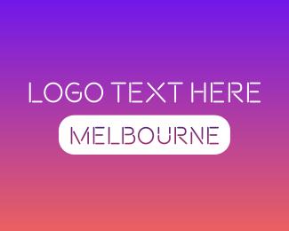 Melbourne - Melbourne Text logo design