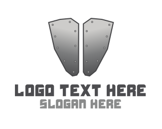 Metal - Iron Armour logo design