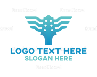 Blues - Blue Wing Guitar logo design