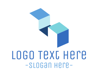 """Minimalist Blue Stairs"" by LogoBrainstorm"