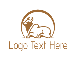 White And Brown - Brown Bull logo design