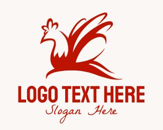 Rooster - Red Chicken logo design